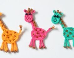 Crochet applique pattern crochet sheep by TheLazyHobbyhopper