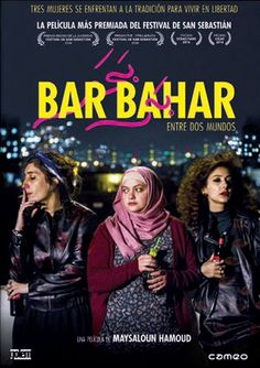 """Festival poster for IN BETWEEN (BAR BAHAR) (Maysaloun Hamoud, Israel, Designer: TBD Poster source: Film Movement IN BETWEEN—""""A lively and distinctly modern dramedy by the Palestinian female director Maysaloun Hamoud""""—kicks off Film Movement's. Streaming Movies, Hd Movies, Movie Tv, Hd Streaming, Netflix Movies, Torah, Bar, Hollywood Movies Online, Spanish Posters"""