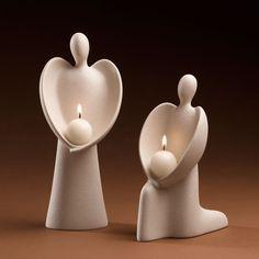 Anděl se svíčkou – šablony – # angel # candle # with # templates Sculptures Céramiques, Sculpture Art, Clay Projects, Clay Crafts, Ceramic Clay, Ceramic Pottery, Pottery Angels, Keramik Design, Ceramic Angels