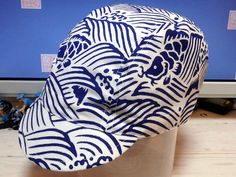 "「荒磯」 ""araiso"" handmade cycling cap Bike Wear, Cycling Wear, Bean Bag Chair, Bicycle, Cap, Fancy, Biking, Handmade, Design"