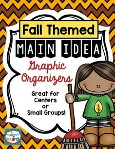 Main Idea Graphic Organizers with a FALL Theme!