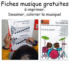 coloriage musique Reading Music, French Classroom, French Teacher, Funny Slogans, Music For Kids, Music Classroom, Music Games, Learn French, I School