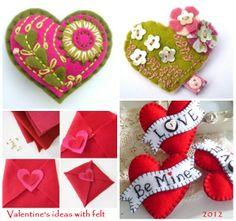 Valentine's ideas with felt