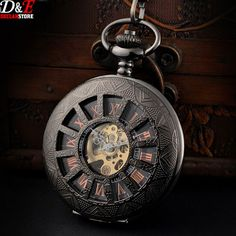New Design Luxury Brand Fashion Skeleton Steampunk Watches Hand Wind Mechanical Pocket Watch P428 Alternative Measures