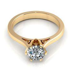 Aurella - 0.45CT round cut diamonds solitaire ring - Yellow gold, £730.00 (http://www.aurella.co/0-45ct-round-cut-diamonds-solitaire-ring-yellow-gold/)
