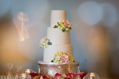 Sugar hydrangea on wedding cake ~ BTS Event Management and Ben Koller Photography