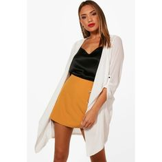 Boohoo Charlotte Chiffon Jacket ($13) ❤ liked on Polyvore featuring outerwear, jackets, longline duster coat, white bomber jackets, white puffer jackets, bomber jacket and white jacket