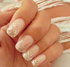 Pink Glitter Nails- So cute but I would never do housework! ;)
