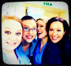 Amanda Mealing, Crystal Yu,Chloe Howman & Amanda Henderson on set. Making my heart happy:3