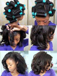 Reviving Flat Hair with Perm Rods • soft curls done with perms rods on straightened natural • Just Grow Already blog http://justgrowalready.com/2016/05/reviving-flat-hair-with-perm-rods.html