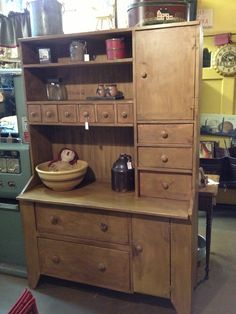 Primitive Mustard Bakers Cupboard. $1,450.00, Via Etsy. Primitive  FurnitureCountry ...