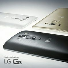 LG G3 in black, white and gold