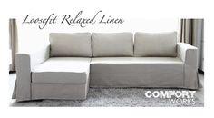 Modern Sofa Ikea Manstad sofa bed with Comfort Works loose slip cover I um pretty sure