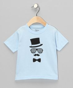 Take a look at this Light Blue Gent Tee - Toddler by Pigeon Camera Kids on #zulily today!