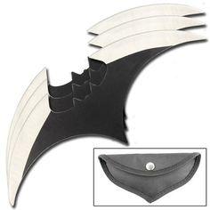 Batman Begins Set of 3 Batarang Throwing Knives | Throwing Knives From All Ninja Gear