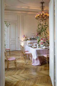 Paris Apartment set up for a fete...