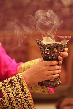 burning bakhoor