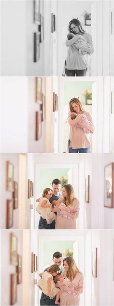Newborn lifestyle photography.