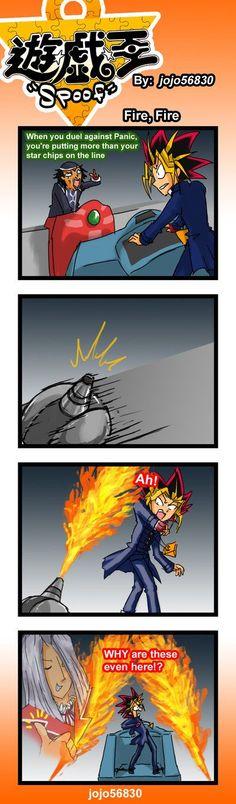 Oh goodness... XD  Yu-Gi-Oh!  YGO Spoof: fire fire by jojo56830.deviantart.com on @deviantART: