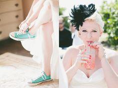 'something blue' converse wedding shoes