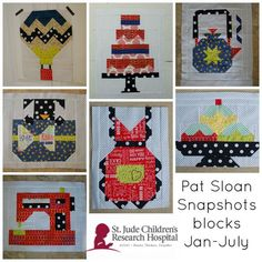a pat sloan st jude blocks 1 to 7 - free patterns = http://blog.patsloan.com/2015/07/pat-sloan-st-judes-patterns-for-charity-quilt-free-block-7.html