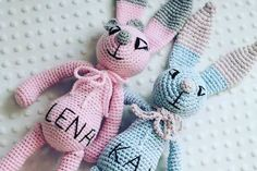 crochet rabbits with names