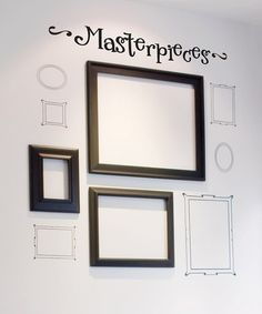 Take a look at this Belvedere Designs Black 'Masterpieces' Wall Quote by Perfect Presents: Home Décor on #zulily today!