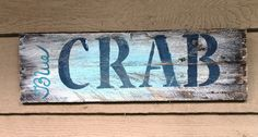 Blue Crab sign, $15 USD