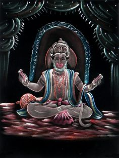 Hanuman (Painting on Velvet Cloth - Unframed)