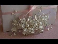 Diy Lace Ribbon Flowers, Beaded Flowers, Pearl Headband, Crown Headband, Hair Bow Tutorial, Unicorn Crafts, Art N Craft, Diy Hair Bows, Fascinator Hats