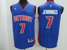 00532a1c0be Detroit Pistons #7 Jennings Blue Men 2017 New Logo NBA Adidas Jersey