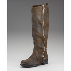 Jimmy Choo Zip-Up Suede Motorcycle Boot