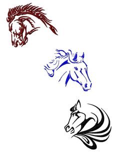 Tribal Horses Machine Embroidry Designs Package by emoembroidery