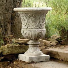 Lippie Urn Planter Made Of Durable, Lightweight Fiber Stone U2014 Sand And  Stone Cast On