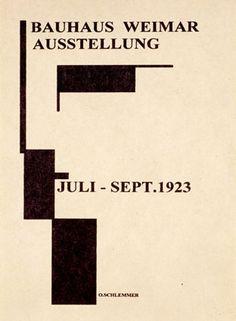 Bauhaus, Weimar Ausstellung, 1923