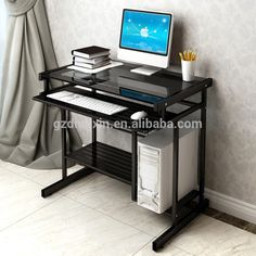 Mesa do computador de vidro barato sala de estar móveis de metal…