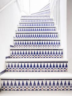 What a beautiful way to renovate stairs  Image via Happy Interior Blog