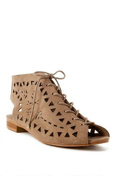 Shoe problem? What shoe problem? I can stop any time I want! And I DEFINITELY want these sandals. These have all the style and affect of combat boots while staying lighter and bringing out the spring in me!  MIA Shoes, Lila Cutout Sandal