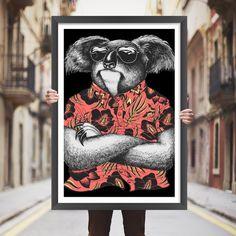 Placa decorativa koala - StickDecor | Decoração Criativa