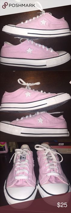 Pink Converse In good condition Converse Shoes Athletic Shoes