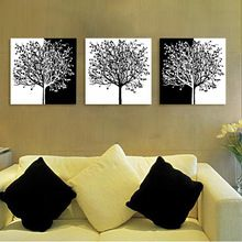 free shipping canvas painting wall pictures 3 panel wall art decorative picture tree(China (Mainland))
