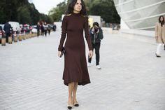 Leandra Medine in a Céline dress and Chanel shoes.  Image Source: BFA
