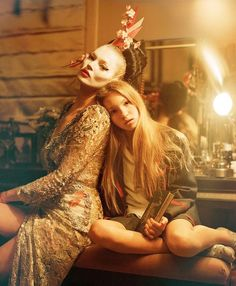 """Kate Moss and Lila Grace in """"The Creative Revue"""" by Tim Walker for Vogue UK June 2016 Vogue Uk, Lila Grace Moss, Lila Moss, Cindy Crawford, Kate Moss 2016, Tim Walker Photography, Marc Jacobs, Sam Mcknight, Edie Campbell"""