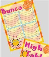 Bunco summer score cards