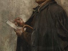 Vojtech Bartonek - Czech, 1859/1908 - 'Portrait of a Man in a Coat'.