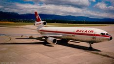 Matthias Haenni ‏- McDonnell Douglas DC-10 of BALAIR arriving at Geneva in 1991