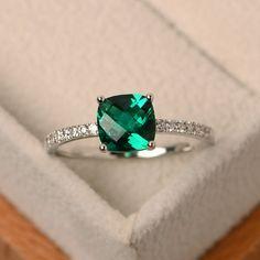 , esmeralda anillo verde Esmeraldo ,,,verde anillo por LuoJewelry