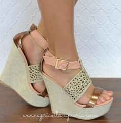Tri Color Wedge- Blush love these! Stilettos, Pumps, Cute Shoes, Me Too Shoes, Shoe Boots, Shoes Sandals, Beach Sandals, Baskets, Up Girl