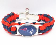Paracord Bracelet New England Patriots team sport fan Football Bracelets friendship Drop shipping