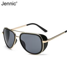 352037c4570b4 Barato Jennic Homens Quadrado Frame Da Liga de Óculos De Sol Masculino  Óculos de Deformar Mesmo